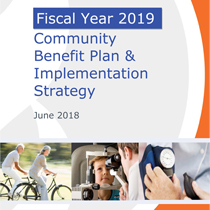Image of the cover of the FY2019 Community Benefit Plan & Implementation Strategy - click to view