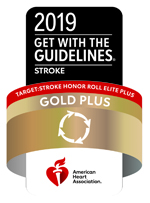 Image of the 2019 Gold Plus Award from the American Heart Association/American Stroke Association Click to learn more