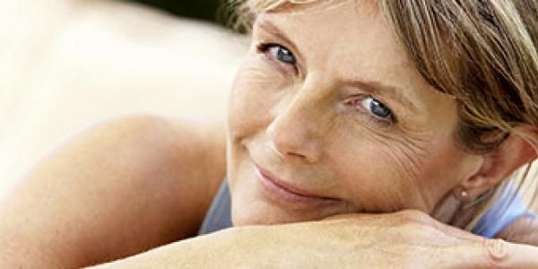 Digestive Health - smiling older woman
